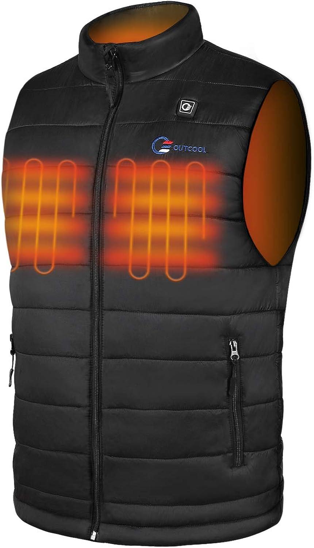 OUTCOOL Men's Heated Vest Light Weight Heating Vest For Men (Type:NMJ1904)