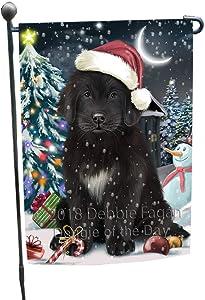 Have a Holly Jolly Christmas Happy Holidays Newfoundland Dog Double-Sided Yard Flag - Premium Quality Colorful Design Home Decorative Garden Flag GFLG54303