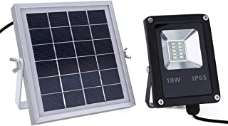 10W LED Waterproof Solar Powered Sensor Flood Light with Remote Control Garden Outdoor Security Solar Lamp