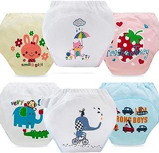 Morbuy-Shop, Pantalones de Entrenamiento para Bebé, Morbuy Reusable Calzones de Entrenamiento Ropa Interior de Entrenamiento Bragas de Aprendizaje para Niño Niña, 1-3 Edad, 6 Piezas