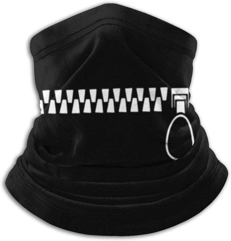 Teeth Pattern Unisex Microfiber Neck Warmer Headwear Face Scarf Mask Reusable Balaclava For Cold Weather Dust Sun Windproof Ski Tube Face Cover Magic Bandana