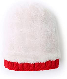 LOCOMO Women Cabled Checker Pattern Knit Beanie Hat Cap Button Strap FFH080BEI