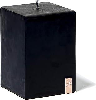 LAVA Stormy Desert Scented Candle, Black - Medium Pillar (H10 x W7 x D7 cm)