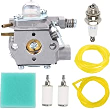 Fuel Li 530071635 Carburetor for Walbro WT-631 530069754 530069971 530069990 Poulan Craftsman 358795541 358742420 358742430 Weed Eater String Trimmer with 530036575 Air Filter Kit