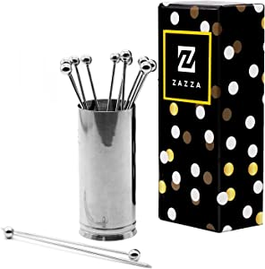 Cocktail Picks and Holder, Cocktail Sticks for Cocktail Party, Food Picks Skewers for Appetizer, Cocktail Toothpicks,Cocktail Skewers Reusable Stainless Steel Martini Picks for Home and Bar