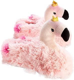 MDI Australia Flamingo Slippers Plush, Pink/Gold