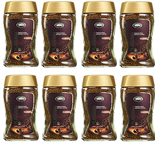 Elite Platinum Freeze Dried Instant Coffee Classic 7.5 oz (Pack of 8)