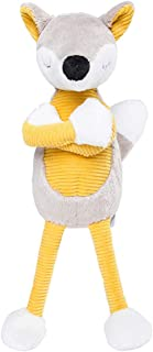 Cool Fox Plush Doll Stuffed Animal Puppet Toy for Birthday Gift Party(Yellow Style)