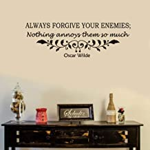 reande Removable Wall Stickers Decor Always Forgive Your Enemies Nothing Annoys Them So Much for Study Room School Classroom Practice Room