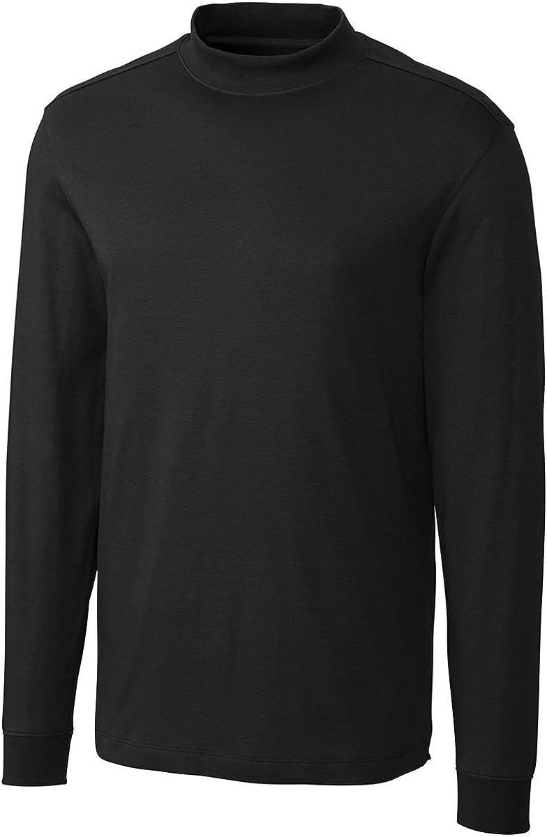 Cutter & Buck Men's Big And Tall Classic Pullover Shirt, Black, XXXX-Large Tall