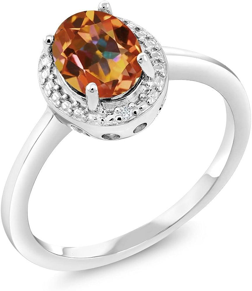 Gem Stone Latest item King 1.31 Ct Oval Topaz OFFicial site Mystic Ecstasy White Diamond 9