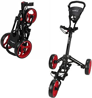 Caddymatic Golf X-Lite با یک کلیک تاشو Pull / Push Golf Cart Black / Red