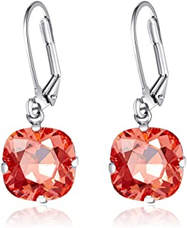 Martine Wester Leverback Drop Earrings Dangles Earrings Made with Swarovski Crystal Gemstone Solitaire Fashion Jewelry for...