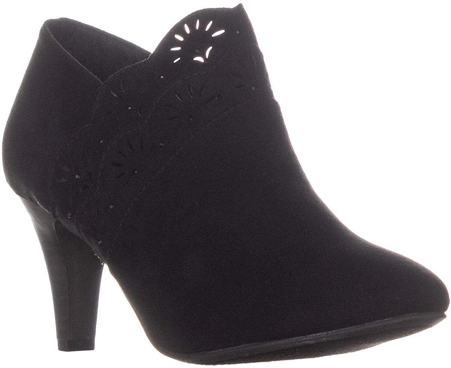 KS35 Marana Front Perforated Ankle Boots, Black
