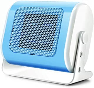 Mokylor Mini Space Heater PTC Ceramic Electric Heater 220V 500W for Dormitory Desktop Bedroom Home Car Office Use Horizontal Style (Blue)