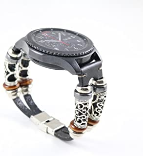 for Samsung Gear S3 Watch Strap,Retro Leather Wristband Band Bracelet Quick Replacement Watchband