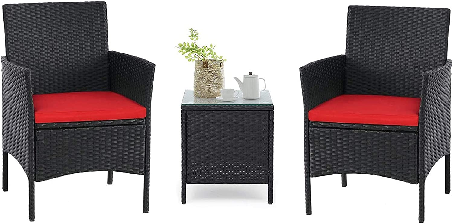 Crownland Patio Translated Furniture 3 Piece Ranking TOP4 Wicke Table Set Outdoor Bistro