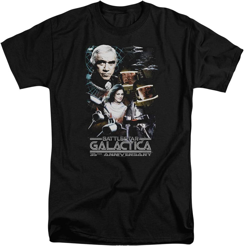 Battlestar Galactica BSG  Mens 35Th Anniversary Collage Tall TShirt