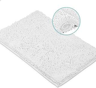 LuxUrux Bath Mat-Extra-Soft Plush Bath Shower Bathroom Rug,1'' Chenille Microfiber Material, Super Absorbent Shaggy Bath R...