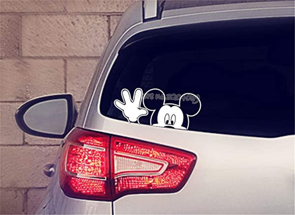 Tioua Mickey Mouse Wall Sticker Decal Mickey Mouse Waving Wall Sticker Children S Bedroom Nursery Living Room Wall Decal Car Sticker