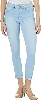YMI Juniors Wannabettabutt Roll Cuff Whiskered Jeans 16W Short