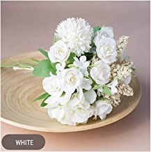 Hybride stijl, kleine kunstbloemenboeket van zijde, bloemenarrangement, 13 stuks/set voor huwelijksdecoratie