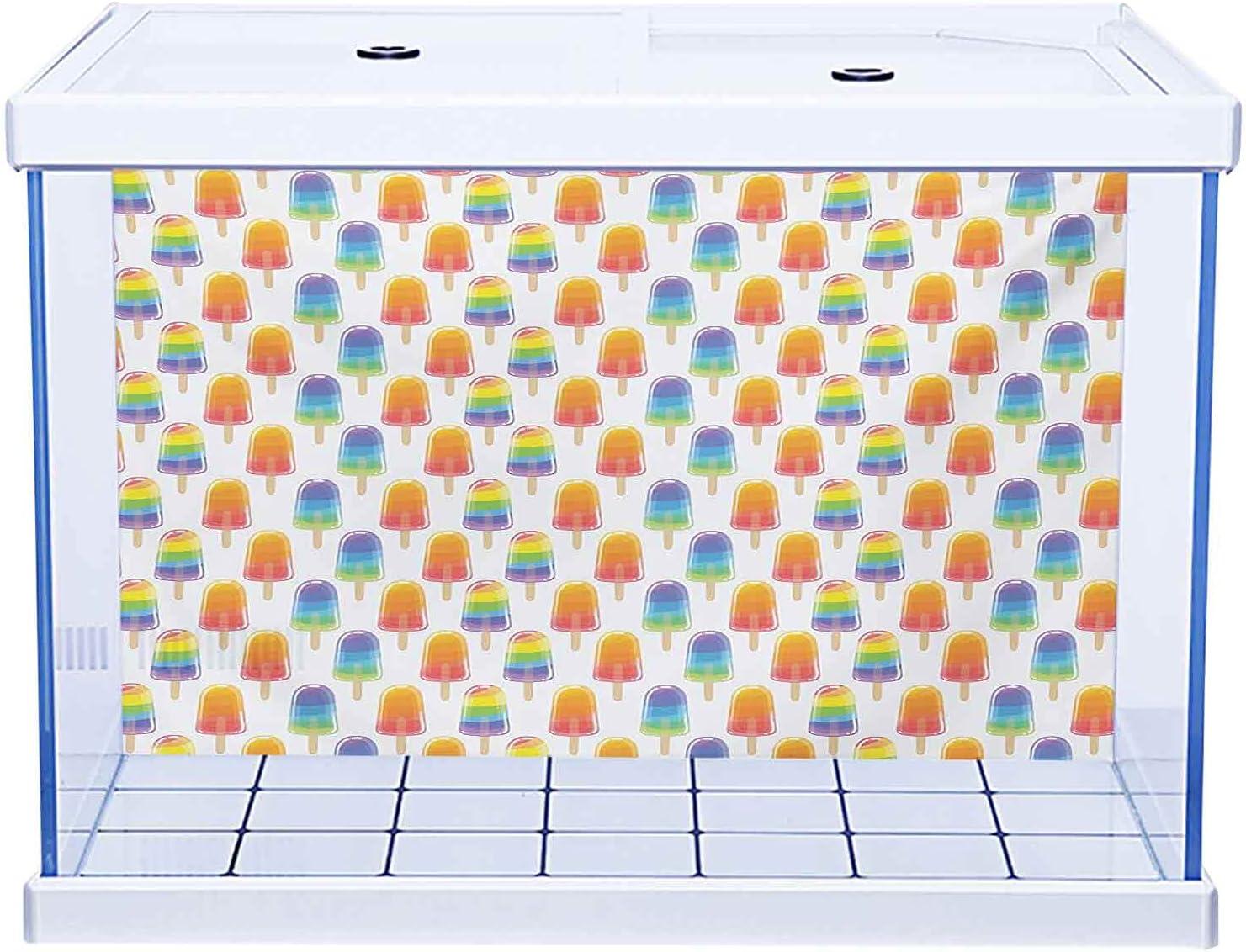 Aquarium Background Excellent Wallpaper Sticker Limited price sale Ice Orange Rainb and Cream