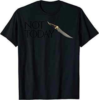 89725295 Not today GOT Arya cool style 3 colored dagger T-Shirt