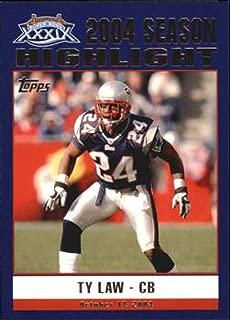 2005 Topps Patriots Super Bowl XXXIX Champions #41 Ty Law Patriots NFL Football Card NM-MT