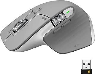 ロジクール アドバンスド ワイヤレスマウス MX Master 3 MX2200sMG Unifying Bluetooth 高速スクロールホイール 充電式 FLOW 7ボタン windows Mac 無線 マウス MX2200 ミッドグレイ 国内正規品 2年間無償保証