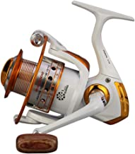 SHTONE Bass Spinning Reel Casting Reel Pure Powerful Aluminum Fishing Reel, Light Weight, Left/Right Wooden Handle