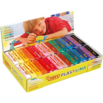 Jovi Plastilina Reusable and Non-Drying Modeling Clay; 1.75 Oz. Bars, Set of 30, 2 Each of 15 Colors, Perfect for Arts and Crafts Projects