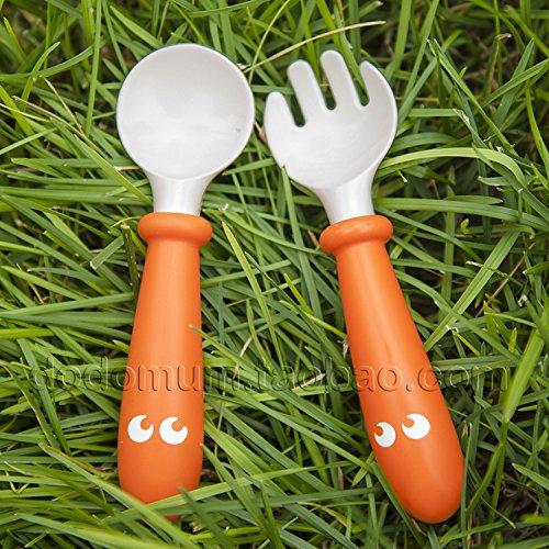 B/éb/é cuill/ères /à nourrir vaisselle vaisselle pour enfants couverts coutellerie cuill/ère cuill/ère outils en silicone-pour-patchwork louche-Wathet-1 taille