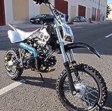 Pit bike avec moteur 4 temps 125cc. Dirt bike 4 temps, mini moto essence pour jeunes...