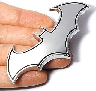 Dealetech DIY Bat 3D Metal Sticker Auto Car Motorcycle Logo Badge Emblem Tail Decals (silver)