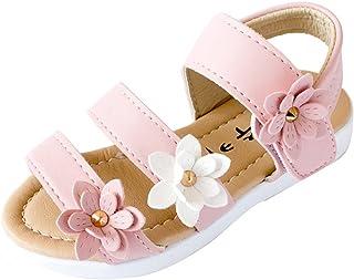 83d29a1af2421 Covermason Sandales Bébé Fille Eté Enfants Enfants Sandales Mode Grande  Fleur Filles Plat Pricness Chaussures