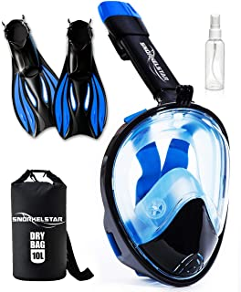 Best snorkel masks and fins Reviews