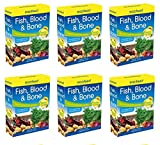 6x eazifeed Pesce sangue, ossa e fertilizzante organico multiuso Pianta Veg 750g