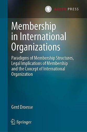 Books By Gerd Droesse_membership In International Organizations ...