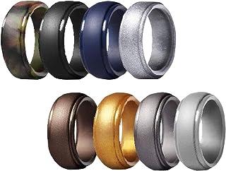 Hellery ピンキーリング リング 指輪 シリコン指輪 スタンダードリング 父の日 プレゼント 8個入り 全8サイズ - サイズ14