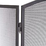 Relaxdays Funkenschutzgitter Stahl, dreiteiliges Gitter gegen Funkenflug, Kaminschutzgitter H x B: 62 x 96 cm, schwarz - 6