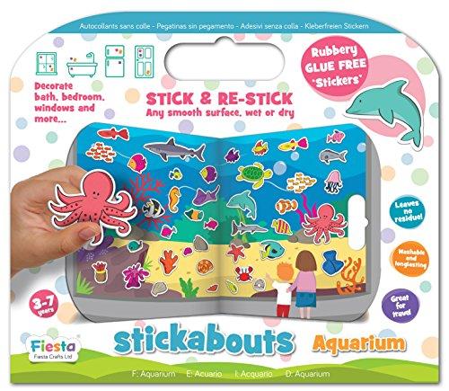 Fiesta Crafts stickabouts espacio Reutilizable Adhesivo Juguete BN