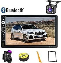 Konifo Radio de Coche 2 Din,7 Pulgadas HD Pantalla Táctil ,Estéreo de Automóvil Bluetooth Reproductor MP5 Apoyo SD/USB/AUX,Autoradio con Control Remoto cámara Trasera