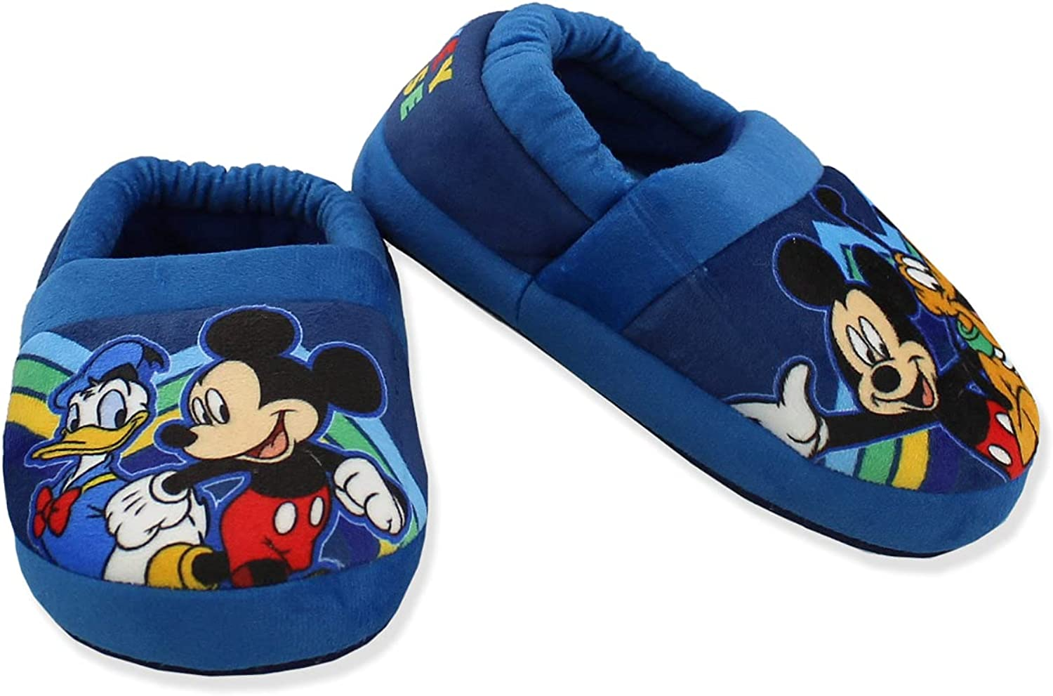 Mickey Mouse Toddler Boy's Seattle Mall Plush A-Line Ears 3D with Outlet ☆ Free Shipping Slippers