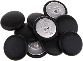 Best black leather covered buttons Reviews