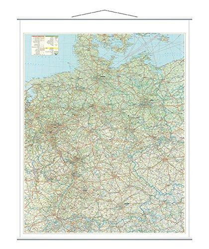 Franken KAM300 Kartentafel Straßenkarte (laminiert 1:750.000) 137 x 97 cm