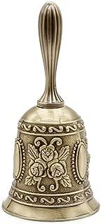 AVESON Hand Bell, Metal Call Bell Alarm Hand Held Service Call Bell Desktop Bell Tea Dinner Bell Game Bell, Christams Bell, Bronze