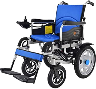 Electric Wheelchair Foldable and Lightly Powered Wheelchair Intelligent Automatic Power Wheelchair Seat Width 45cm 360 ° J...