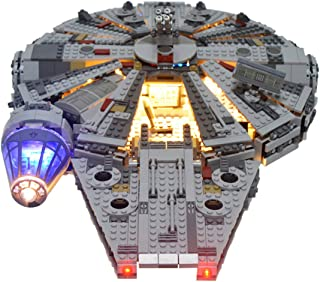 RAVPump Light Set for Star Wars Millennium Falcon Building Kit Model - LED Lighting Kit Compatible with Lego 75105 ( Lego Set not Included )