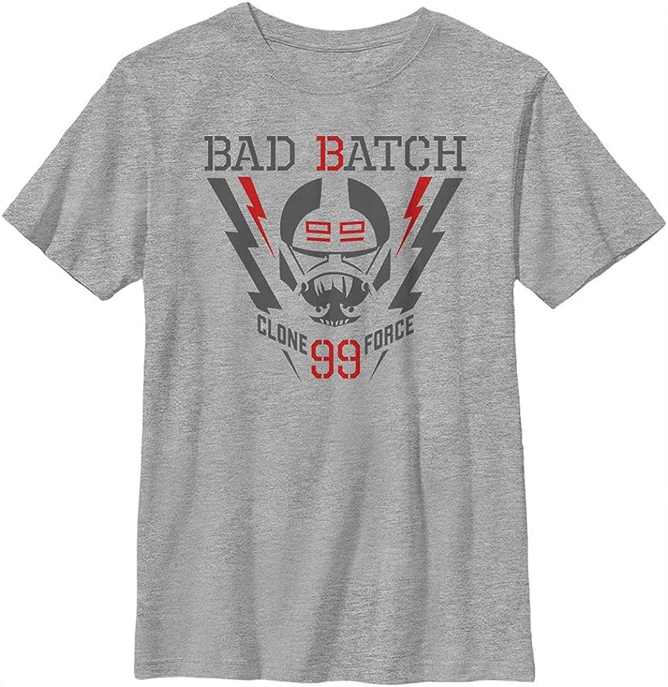Star Wars Bad Batch Lightning Force Boy's Crew Tee, Athletic Heather, X-Small